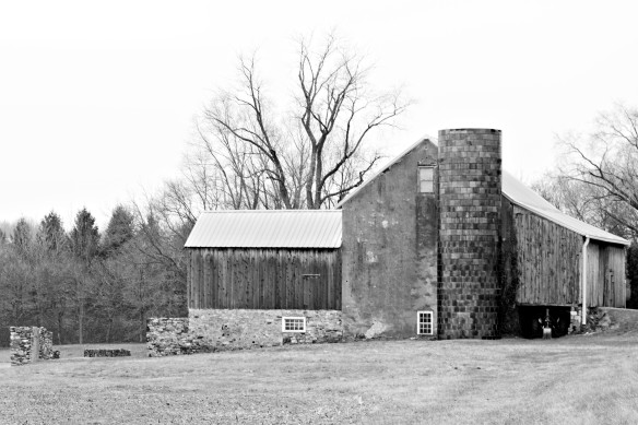 An Old Buck's County Barn on a Cold and Dreary Winter Day